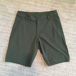 "Lululemon Dark Green 11"" Shorts"